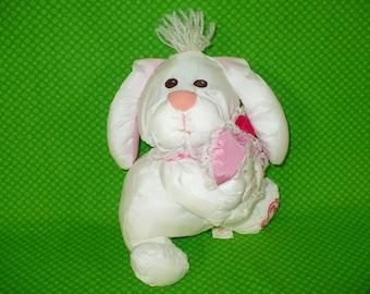 Fisher Price Puffalumps Valentine Bunny Plush- FP Puffalumps Bunny- Vintage Fisher Price Puffalumps Stuffed Animal- Fisher Price Puffalumps