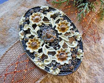 Ivory Flower, Ornate, Metal Buckle, Fancy, Belt Buckle, Womens Buckle, Brass Buckle, Leather Crafts, Belt Supplies, Belt Accessories, Belts