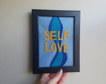 "Felt ""Self Love"" 5x7 Wall Hang"