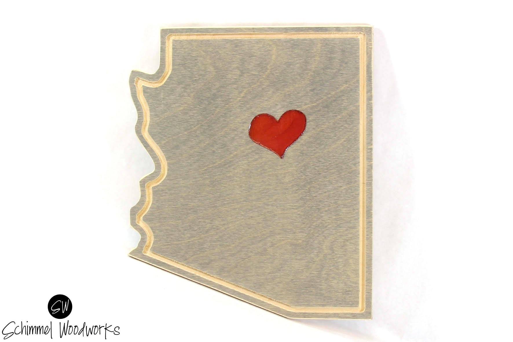 Red Love Wall Decor : Love arizona wall art red heart decor