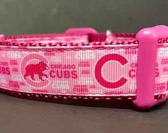 Chicago Cubs Dog Collar ...PINK 2.0