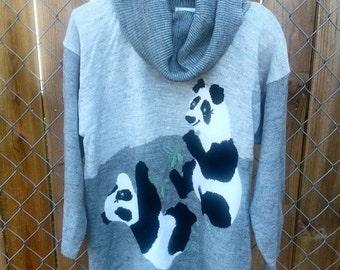 Vintage 80s soft PANDA sweater L