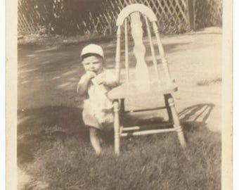 little Dude eating found art social realism original old photograph photo ephemera found vernacular children