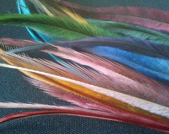 200 Emu Feathers Bulk Lot, Wholesale Craft Supplies, Millinery Supplies, Jewelry Supplies, Hats, Headbands, Headdresses, Feather Earrings,