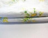 Vintage Pillowcases, STANDARD Size, SET OF 2 ...White Daisy... Vintage Pillowcases