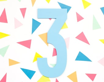 """20"""" Tall Large Wooden Number Sign - Custom Birthday Party Decorations - Large Wood Number Cutout - Birthday Photo Props"""
