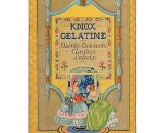 Vintage 1931 Knox Gelatin Cookbook Dainty Desserts Candies Salads Recipes