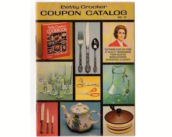 Vintage 1980 Betty Crocker Coupon Catalog No. 10 Trading Stamps Oneida Flatware Crystal Stemware
