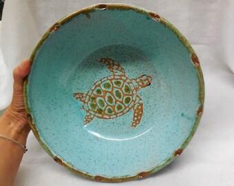 Sea Turtle Serving Bowl
