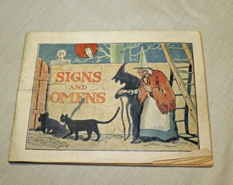 C 1935-1940 Signs and Omens Booklet- Dr. Miles' Nervine Medication