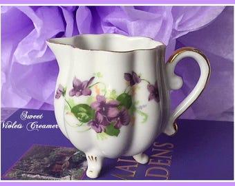 Vintage Sweet Violets Creamer, Vintage Creamer, Teaparty, Mother's Day Gift, Violets, Baby Shower Tea, Bridal Tea, Garden Teaparty