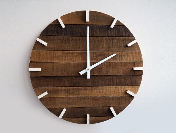 Rustic Wall Clock Large Wall Clock Home Decor By