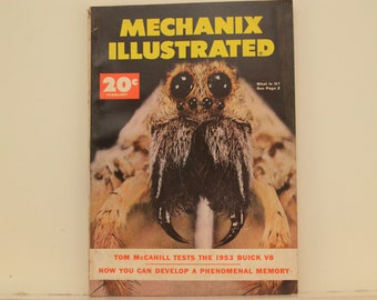 Mechanix Illustrated Magazine, February 1953 - Great Condition, Tips,  Science, Technology, Hundreds of Vintage Ads, Frank Tinsley Pulp Art