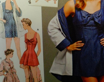 1950s Vintage Bathing Dress & Beach Coat - Simplicity 8139 Pattern - Beach cover-up, Retro Misses' sizes  14 - 22 uncut pattern