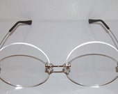 Anime clear large round cosplay costume glasses