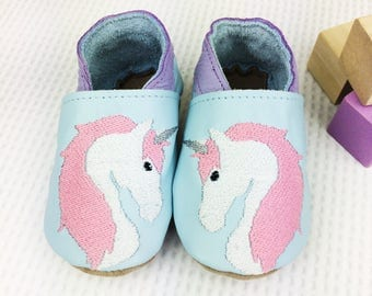 Personalised Unicorn Baby Shoes - Unicorn Childrens slippers - First birthday gift - new baby gift - personalised baby gift