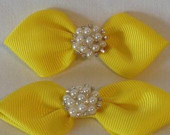 Hairbows/Grosgrain Ribbon/Pearl Rhinestones