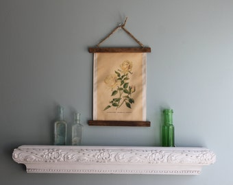 Botanical wall art, Hanging frame canvas rose print