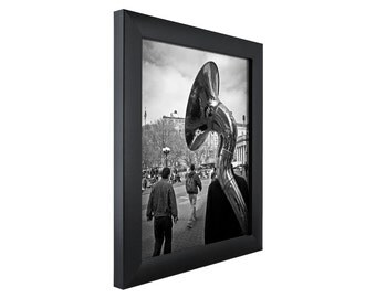 "Craig Frames, 20x20 Inch Modern Black Picture Frame, Contemporary 1"" Wide (1WB3BK2020)"