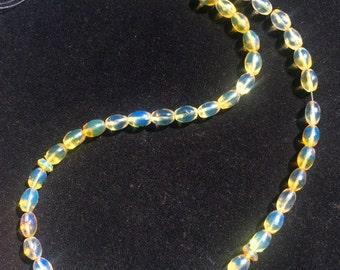 Beautiful Islamic Prayer Dominican Blue Amber Beads Misbaha 10 IN