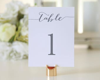 Wedding Table number / White and Dark Gray / Bridal Shower / Tent / Double sided