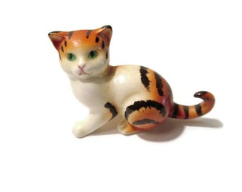 Goebel Tiger Cat 1960s West Germany Green Eyes Surprised Look