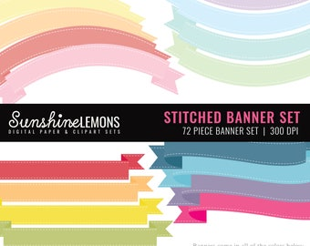 Stitched Banner Set - 72 Piece Digital Banner Set - COMMERCIAL USE Read Terms Below
