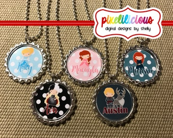 Princess and Villian Necklace - Party Favors Sets of 8, 10,12 or 15 - Personalized for each guest