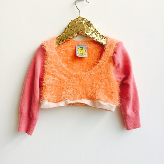 LAUGH 2-3 Years Kids Childrens Jumper Pullover Pulli Top Sweater in Upcycled Acrylic Cashmere Unisex