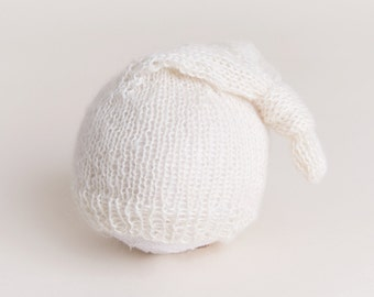 stocking cap cream newborn ready to ship Photography Prop RTS