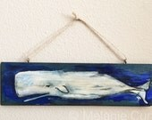 Sperm Whale Painting- original on wood