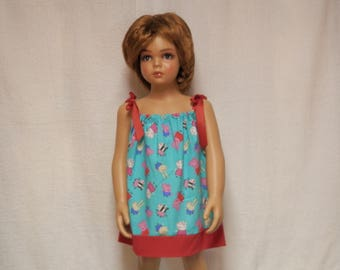 peppa pig,blue peppa pig,sundress,pillowcase dress,summer dress,pillowcase,kids clothing
