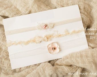 "Tie back set of 3 ""Blossom"" Deluxe"