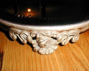 Shabby Chic Round Beveled Mirror *Vanity Table Accessory* Victorian Decor!