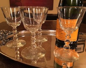 4 Vintage Cocktail Cordial Glasses - Set of Four