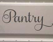 Pantry Door Decal Vinyl Decal Pantry Vinyl Pantry Decal Kitchen Vinyl Decal Kitchen Door Decal Pantry Vinyl Decal Home and Living Kitchen