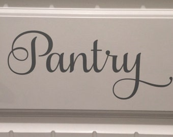 Pantry Door Decal Vinyl Decal Pantry Vinyl Pantry Decal Kitchen Vinyl Decal Kitchen Door Decal Pantry Vinyl Decal Home and Living Kitchen