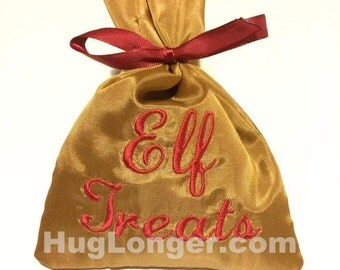 ITH Christmas Treat Bags embroidery file HL1089 Santa Elf Reindeer