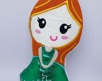 ITH Red Headed Princess Doll HL2015 embroidery file