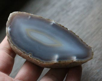 Thick Agate Slab with Polished Front #83123