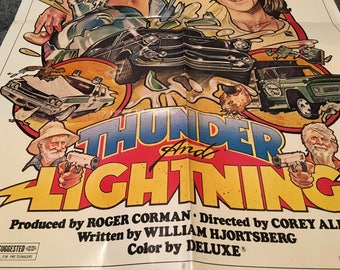 thunder and lightning movie poster 27 by 40