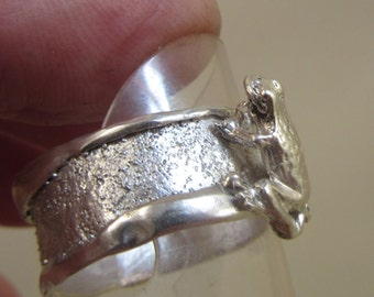 Sterling Silver Frog Handmade ring