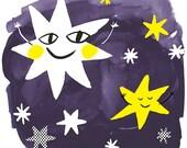 Star Print, 12x12