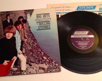 Vintage The Rolling Stones / Original 1966 LP / Big Hits / Satisfaction / VG+++