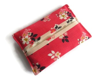 Paper Handkerchief Holder - Cotton Fabric Cover for Paper Tissues -Kleenex Cover Case - Fabric Kleenex Case - Paper Tissue Holder