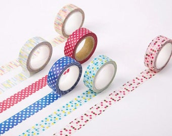 Watercolour Washi Tape Masking Tape Planner Stickers Scrapbooking Stickers