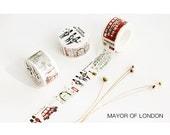 Diary Scrapbook Adhesive Masking Deco Washi Tape - Mayor of London  2 cm Width x 10M