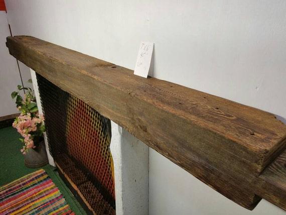 Reclaimed barnwood beam fireplace mantle barn wood shelf for Reclaimed wood beams los angeles