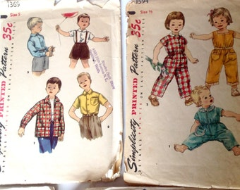 1 vintage 40s 50s sewing pattern Children  Simplicity