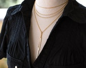 671_Gold chain choker, Gold chain necklace, Long gold chain necklace, Gold chains for women, Everyday necklace, Gold chain necklace jewelry.